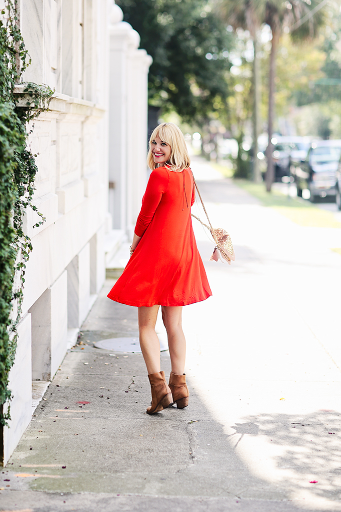 dress and booties look